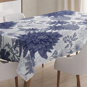 "Tablecloth 52"" x 70"" Lotus Flower Garden Print"